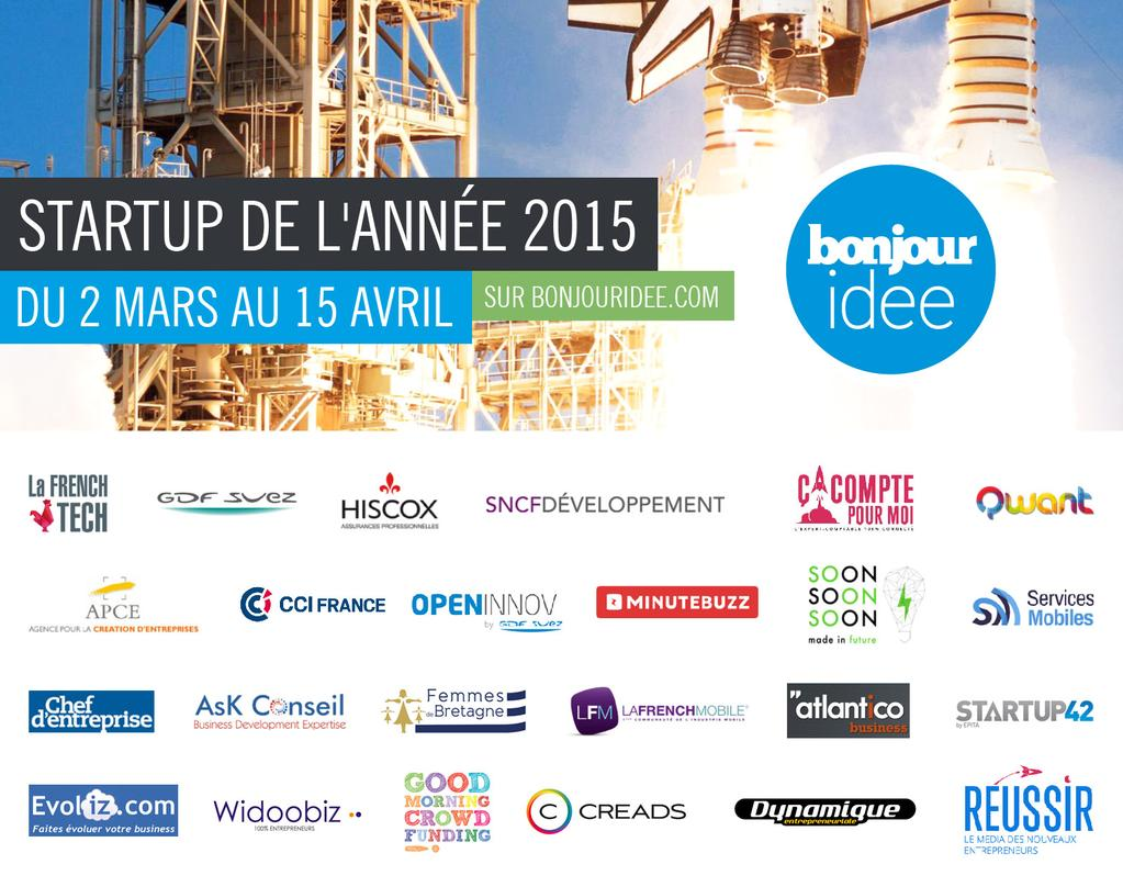 Bonjour id e lance son concours start up de l 39 ann e 2015 for Idee start up usa