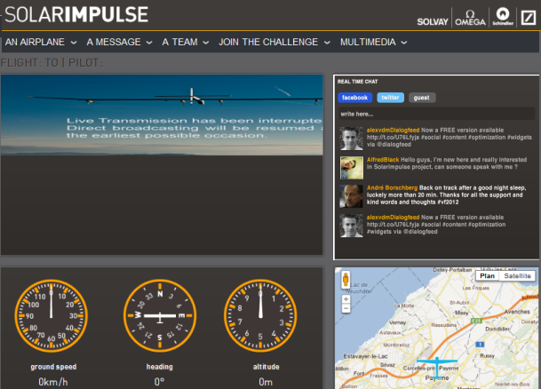 Dialogfeed, SolarImpulse