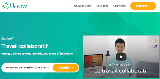 Inscription au Mooc sur le travail collaboratif